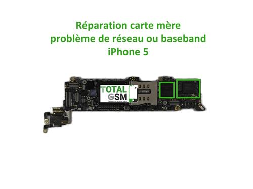 iPhone 5 reparation probleme de reseaux ou baseband