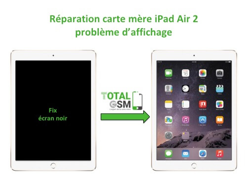 iPad Air 2 reparation probleme d'affichage