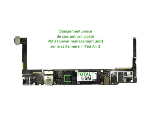 iPad Air 2 reparation probleme de PMU