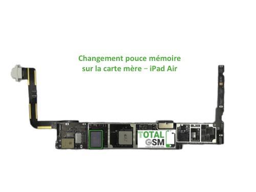 iPad Air reparation probleme de memoire