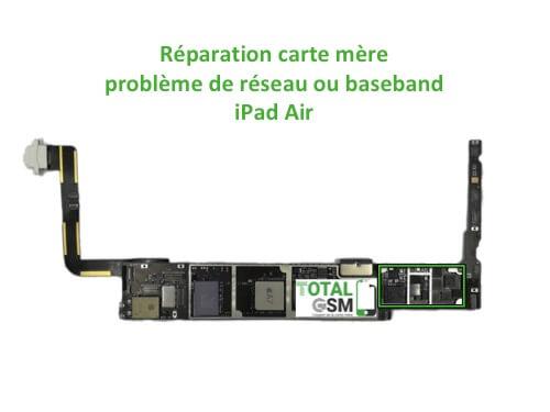 iPad Air reparation probleme de reseaux baseband