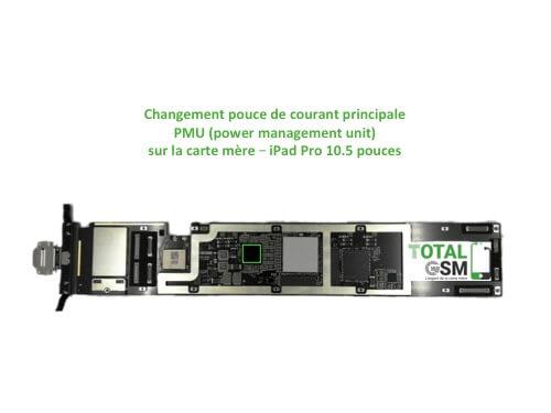 iPad Pro 10.5 pouces reparation probleme de PMU