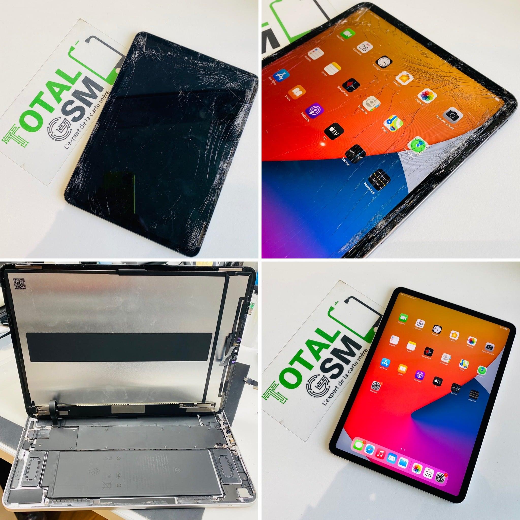 Changement écran + châssis iPad Pro 11