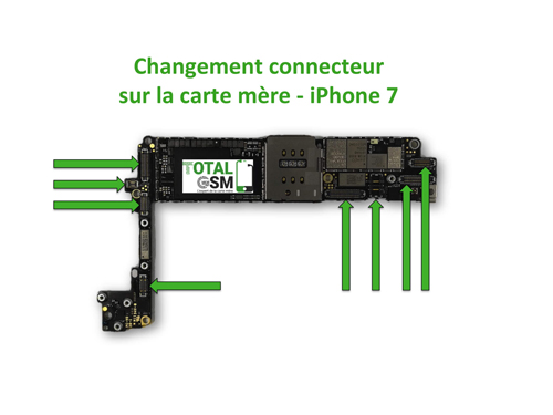 carte mère iphone 7 Change / Repair Connector on iPhone 7 Motherboard   TotalGsm