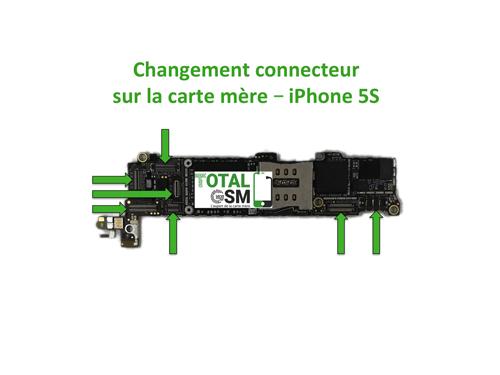 changer carte mere iphone 5s Changement / Réparation connecteur sur carte mère iPhone 5S   TotalGsm