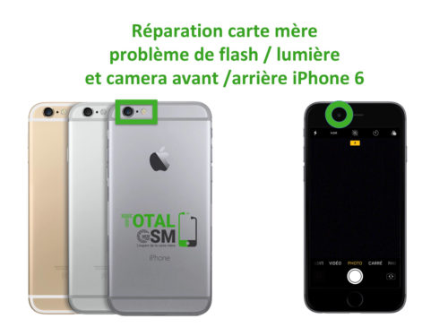 iPhone 6 probleme de flash camera avant arriere