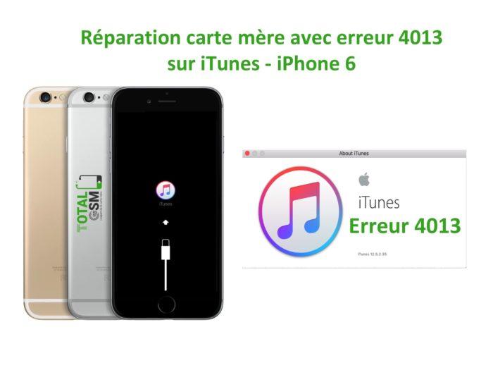 iPhone 6 probleme erreur 4013 sur itunes