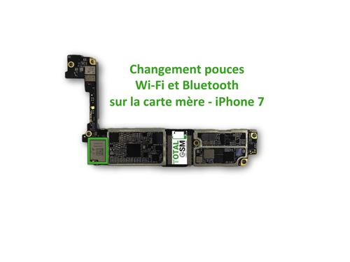 Réparation Carte Mère Apple Iphone 7 Problème De Wifi Ou Bluetooth Bouton Grisé