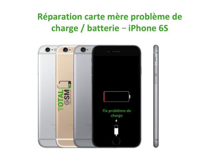 iPhone 6s reparation probleme de charge batterie
