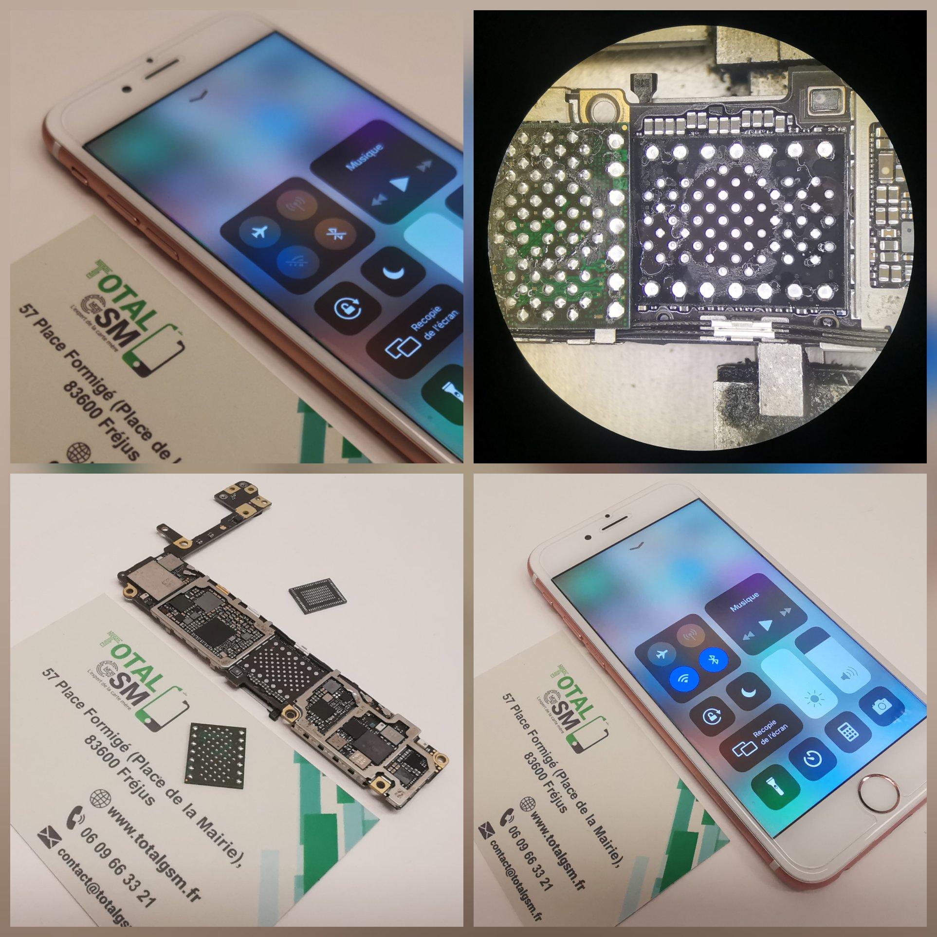 Réparation iPhone 6S - Wifi et Bluetooth grisés