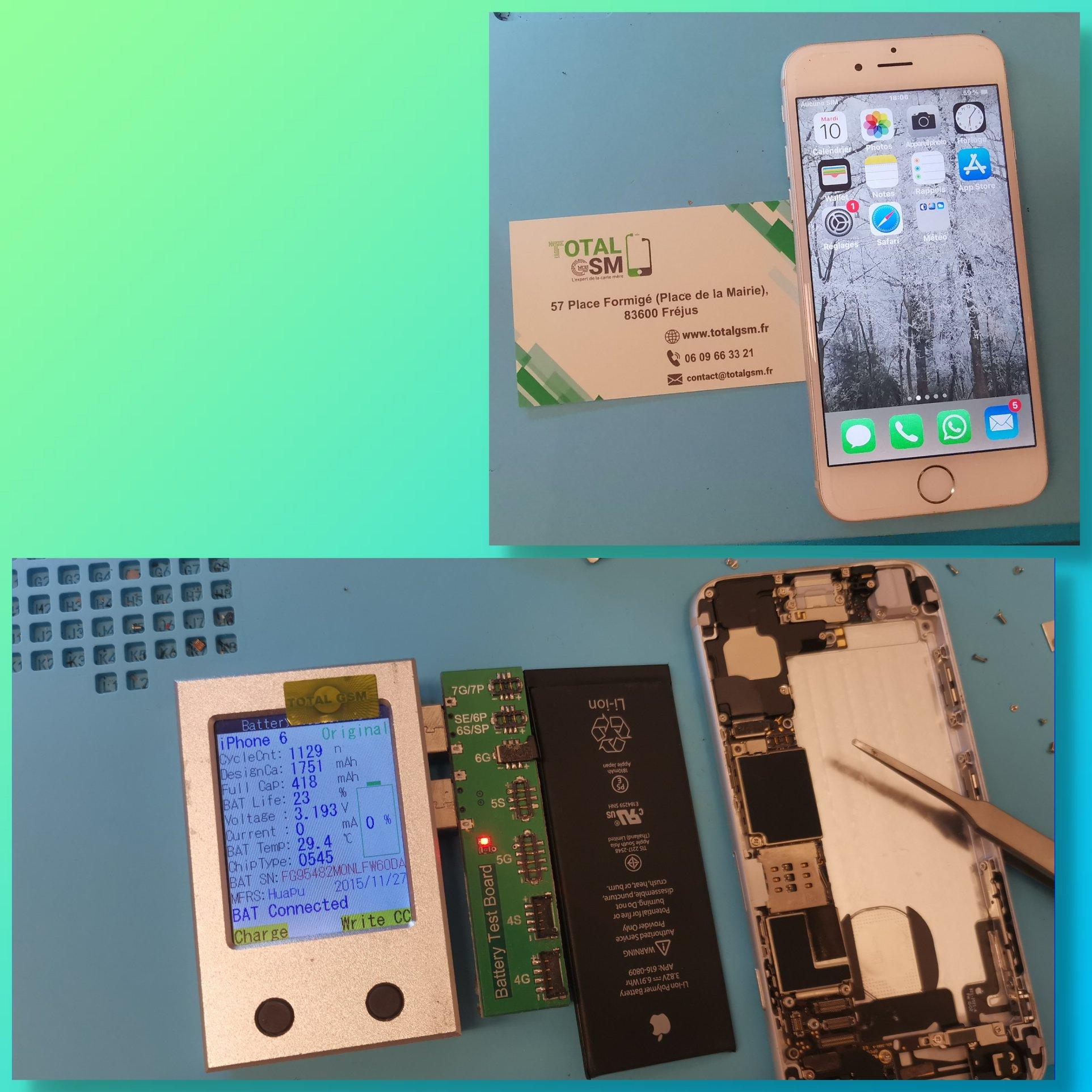 iPhone 6 - Changement de batterie