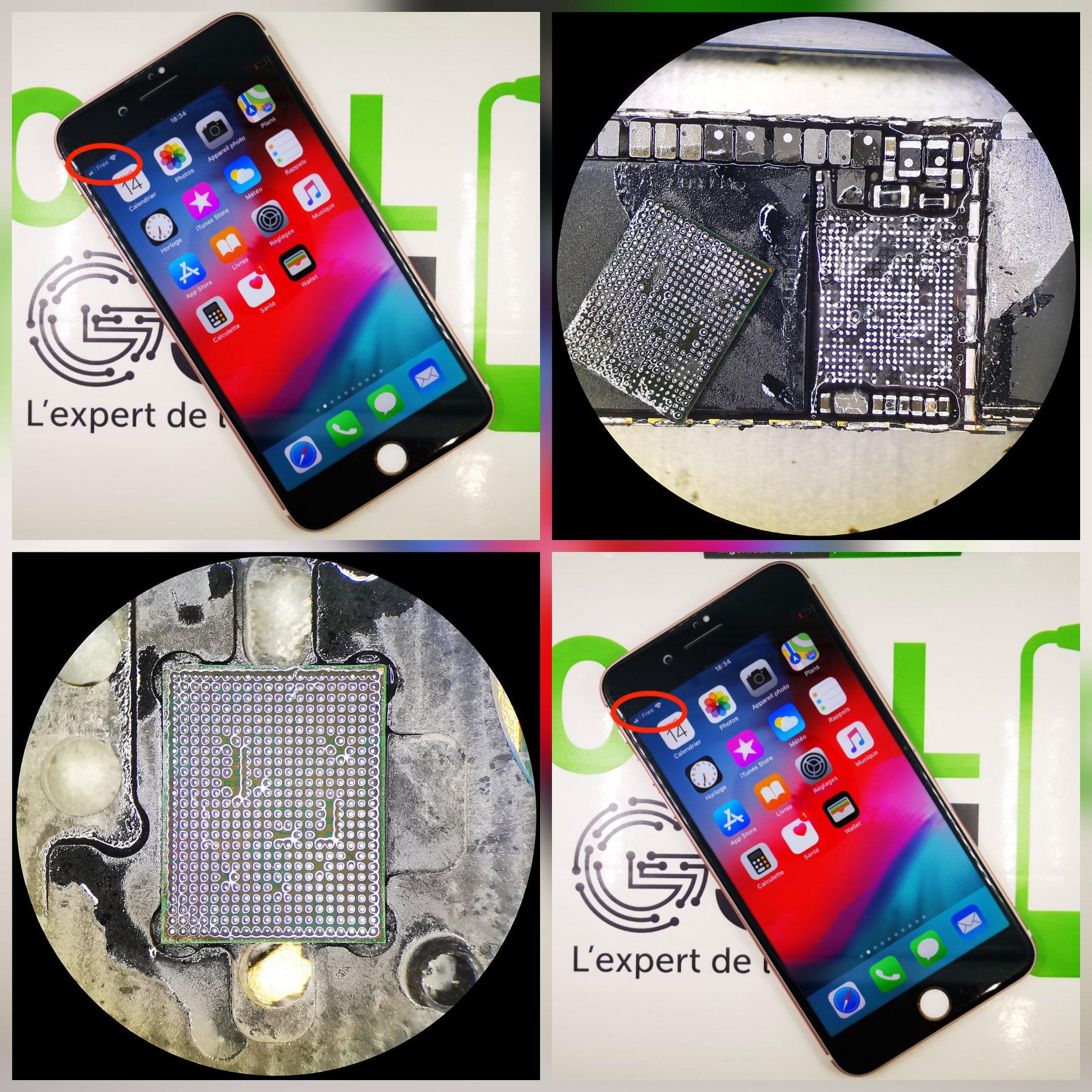 Réparation iPhone 7 Plus - Aucun service / réseau / Baseband