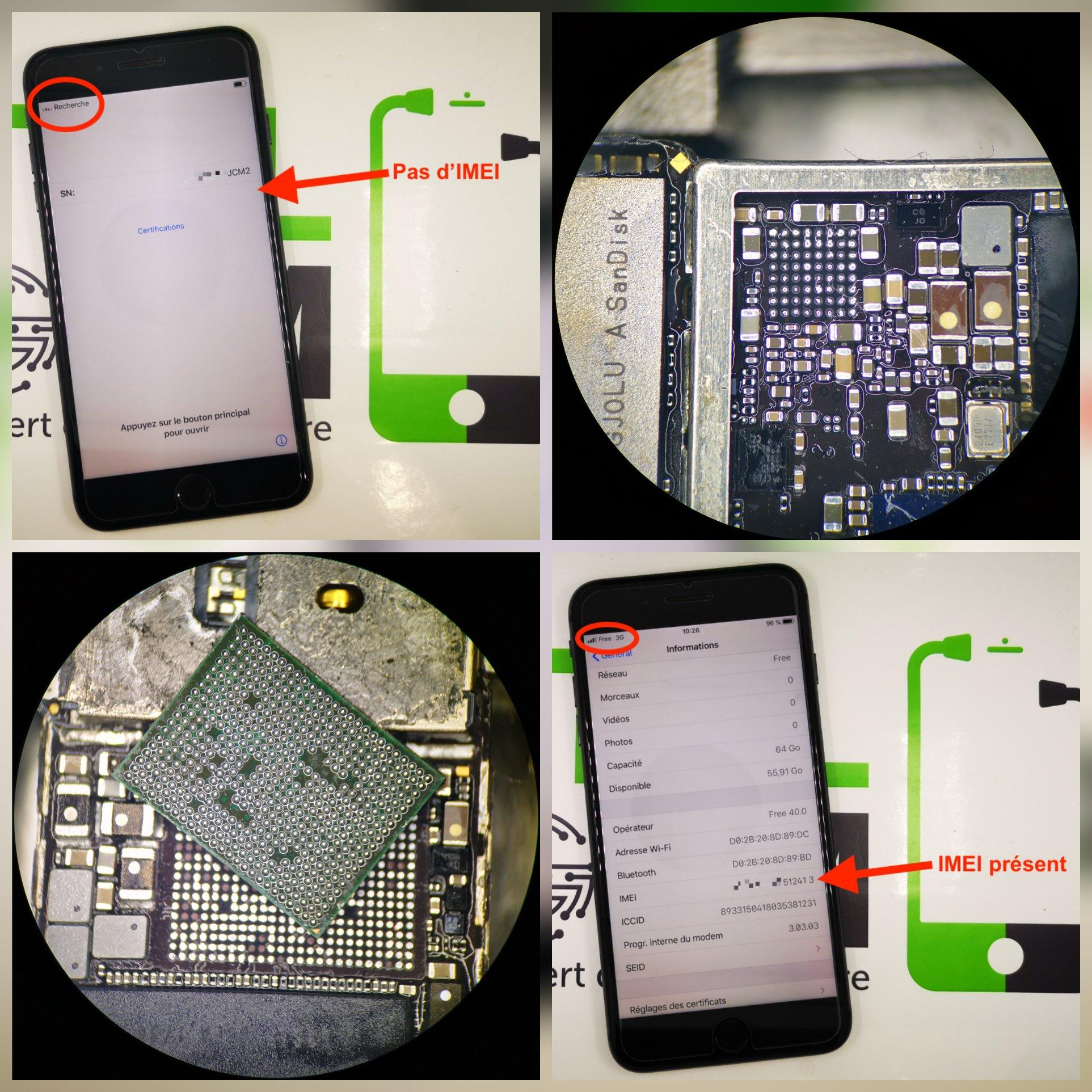 Réparation iPhone 8 Plus - activation impossible