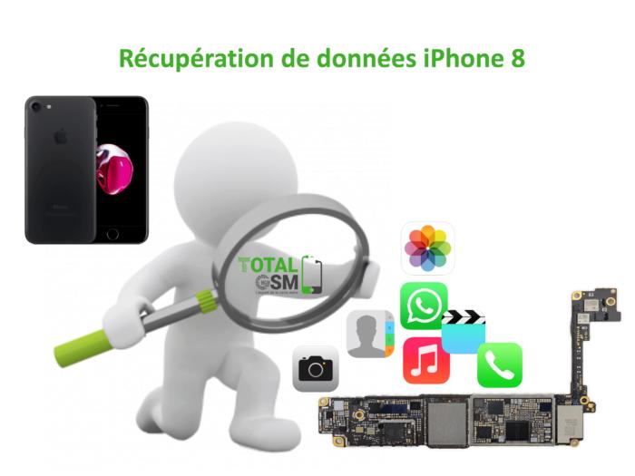 Récupération de données iphone 8
