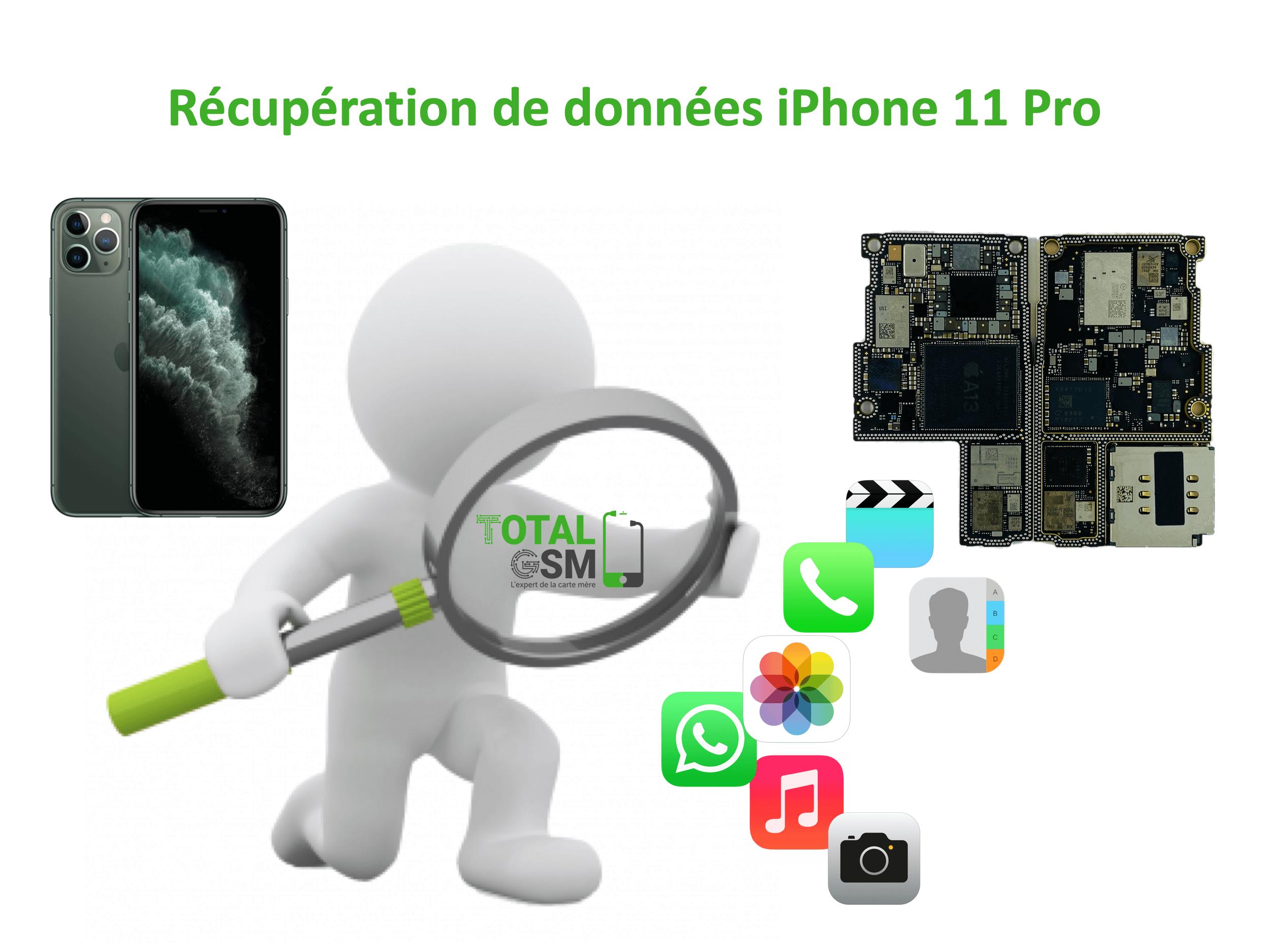 Récupération de données iphone 11 pro