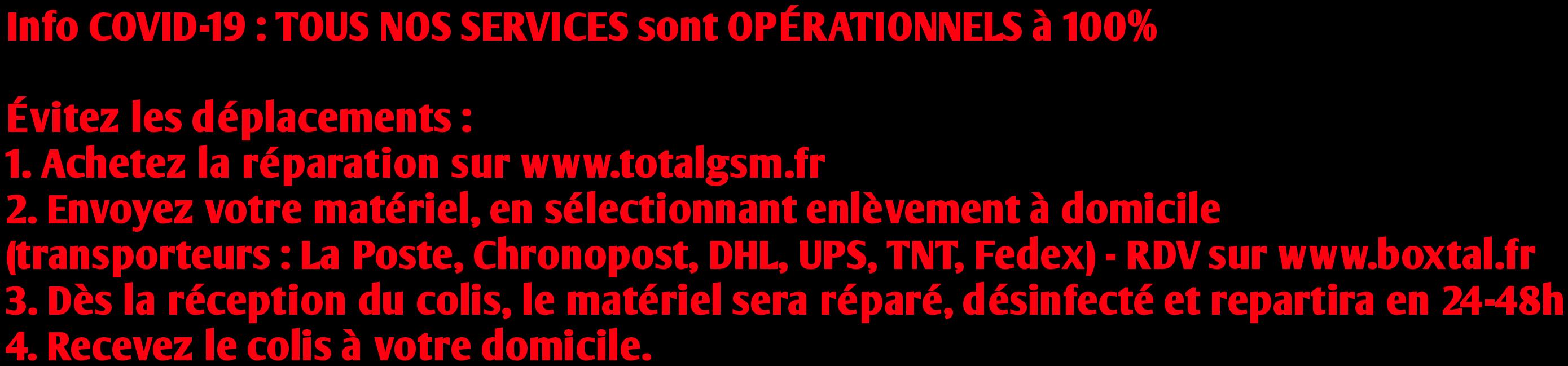 tous les service de reparation a distance sont operationnels a 100%