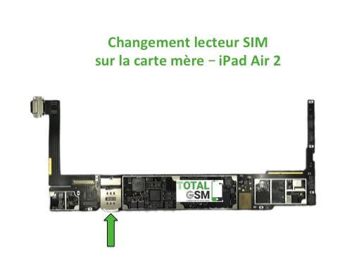 iPad Air 2 changement connecteur SIM
