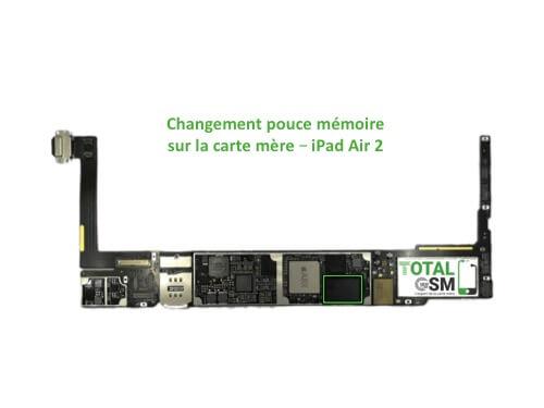 iPad Air 2 reparation probleme de memoire