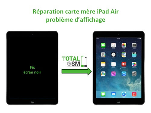iPad Air reparation probleme d'affichage
