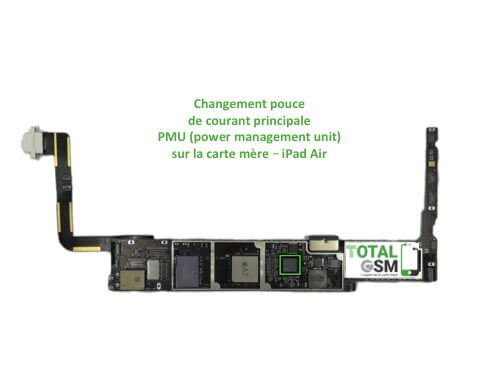 iPad Air reparation probleme de PMU