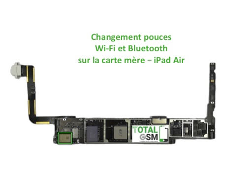 iPad Air reparation probleme de WIFI Bluetooth