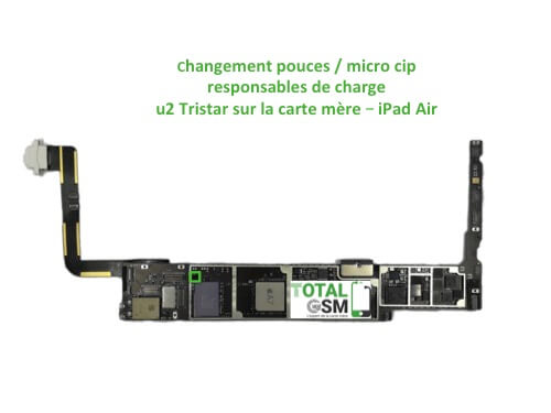 iPad Air reparation probleme de charge U2 Tristar ticris