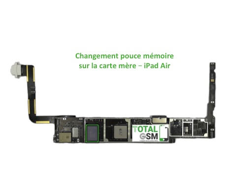 iPad Air reparation probleme de memoire