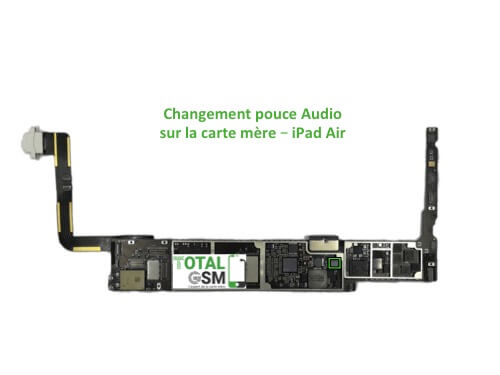 iPad Air reparation probleme de pouce audio