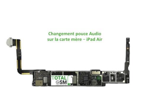 iPad Air reparation probleme de pouce audio