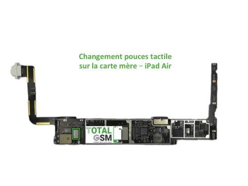 iPad Air reparation probleme de tactile