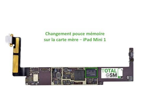 iPad Mini 1 changement reparation la memoire
