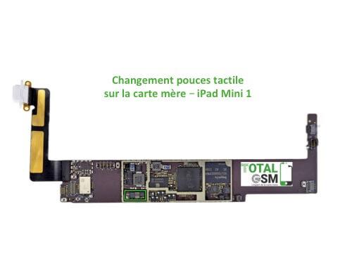 iPad Mini 1 changement reparation pouce de tactile