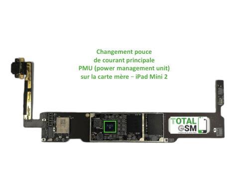 iPad Mini 2 changement reparation pouce PMU