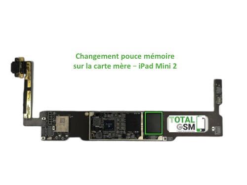 iPad Mini 2 changement reparation pouce memoire