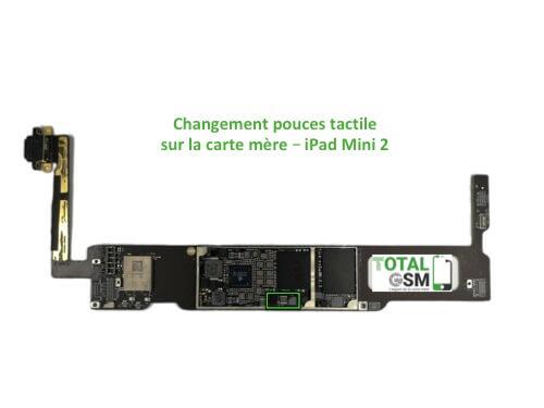 iPad Mini 2 changement reparation pouce tactile