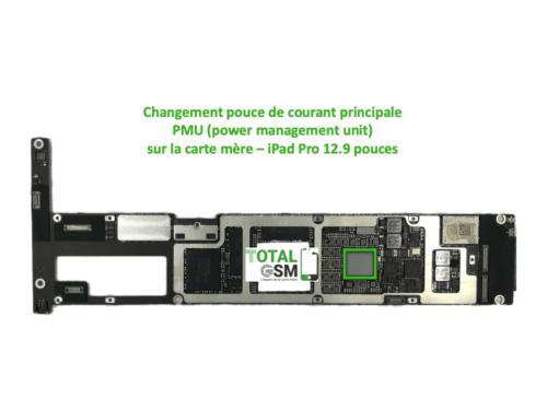 iPad Pro 12.9 pouces reparation probleme de PMU
