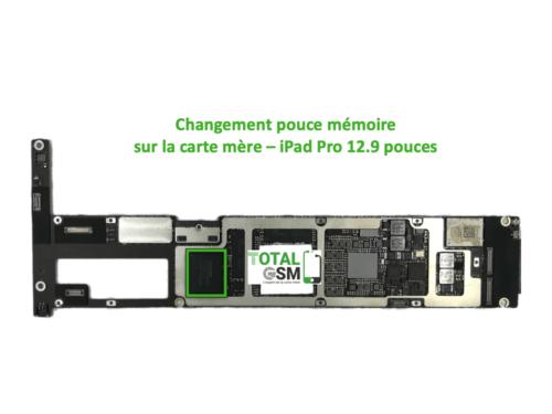 iPad Pro 12.9 pouces reparation probleme de memoire