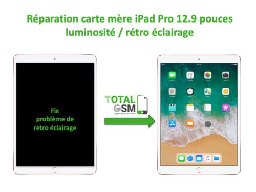 iPad Pro 12.9 pouces reparation probleme de retro eclairage