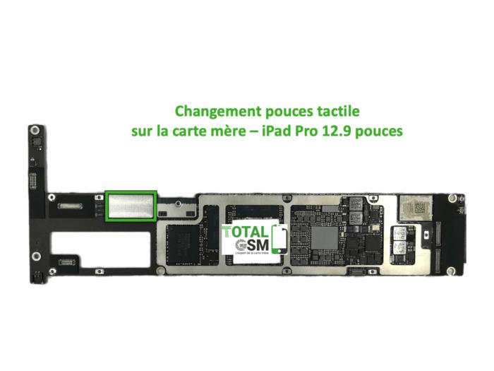 iPad Pro 12.9 pouces reparation probleme de tactile