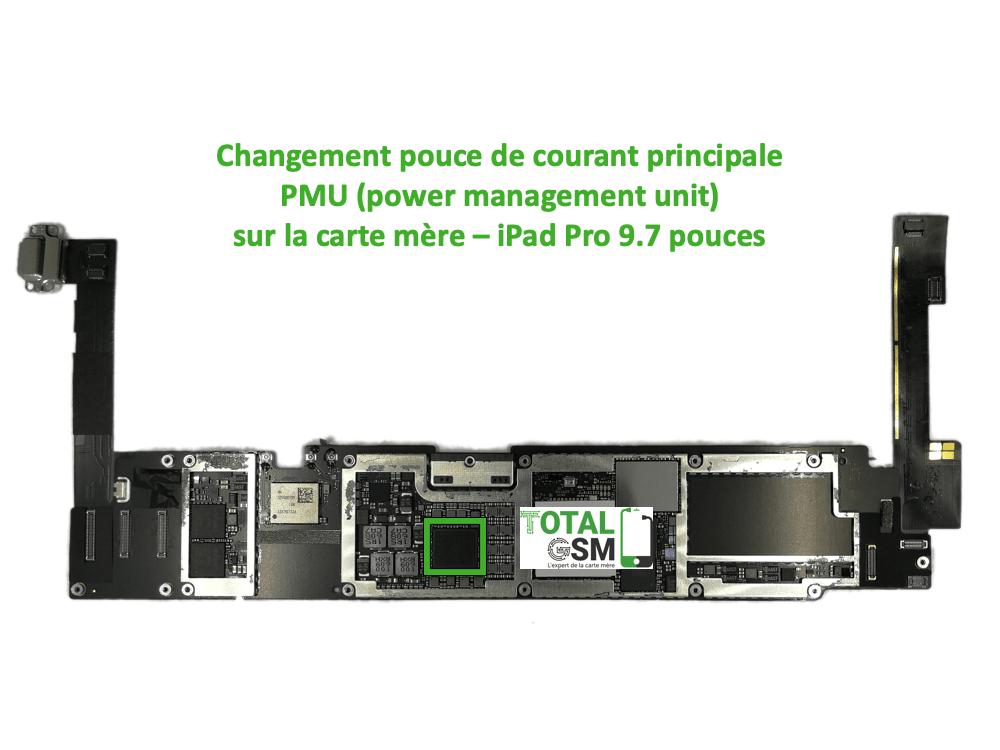 iPad Pro 9.7 pouces reparation probleme de PMU