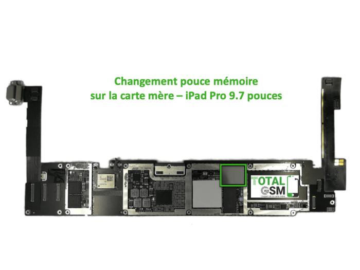 iPad Pro 9.7 pouces reparation probleme de memoire