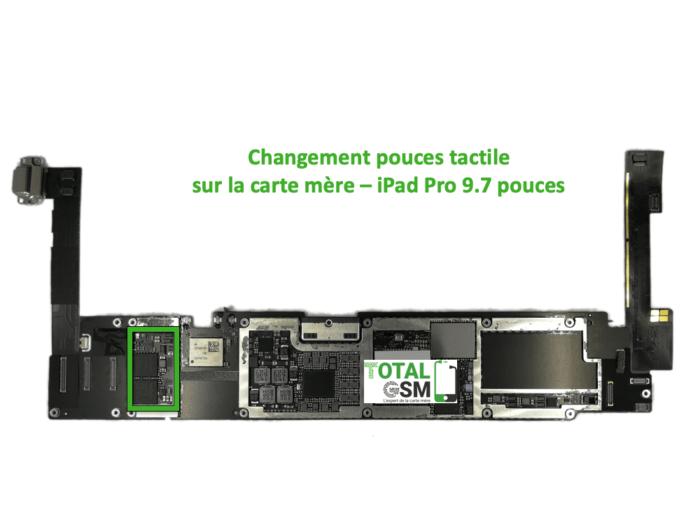 iPad Pro 9.7 pouces reparation probleme de tactile