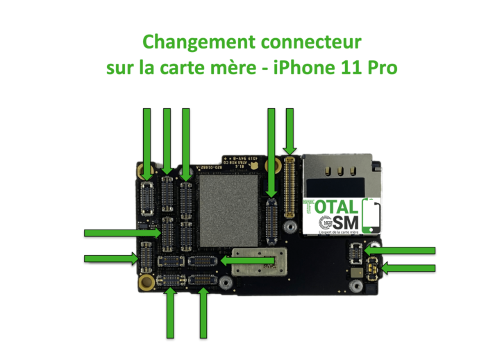 iPhone-11-pro-changement-connecteur-carte-mere