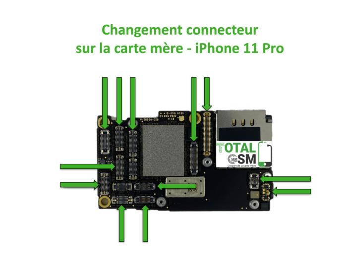 iPhone-11-pro-changement-connecteur-carte-mere