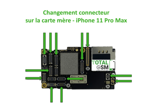 iPhone-11-pro-max-changement-connecteur-carte-mere