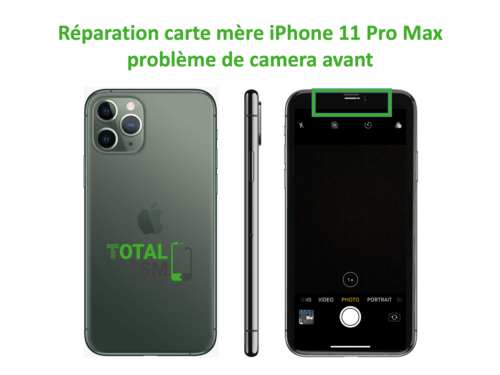 iPhone-11-pro-max-reparation-probleme-de-camera-avant