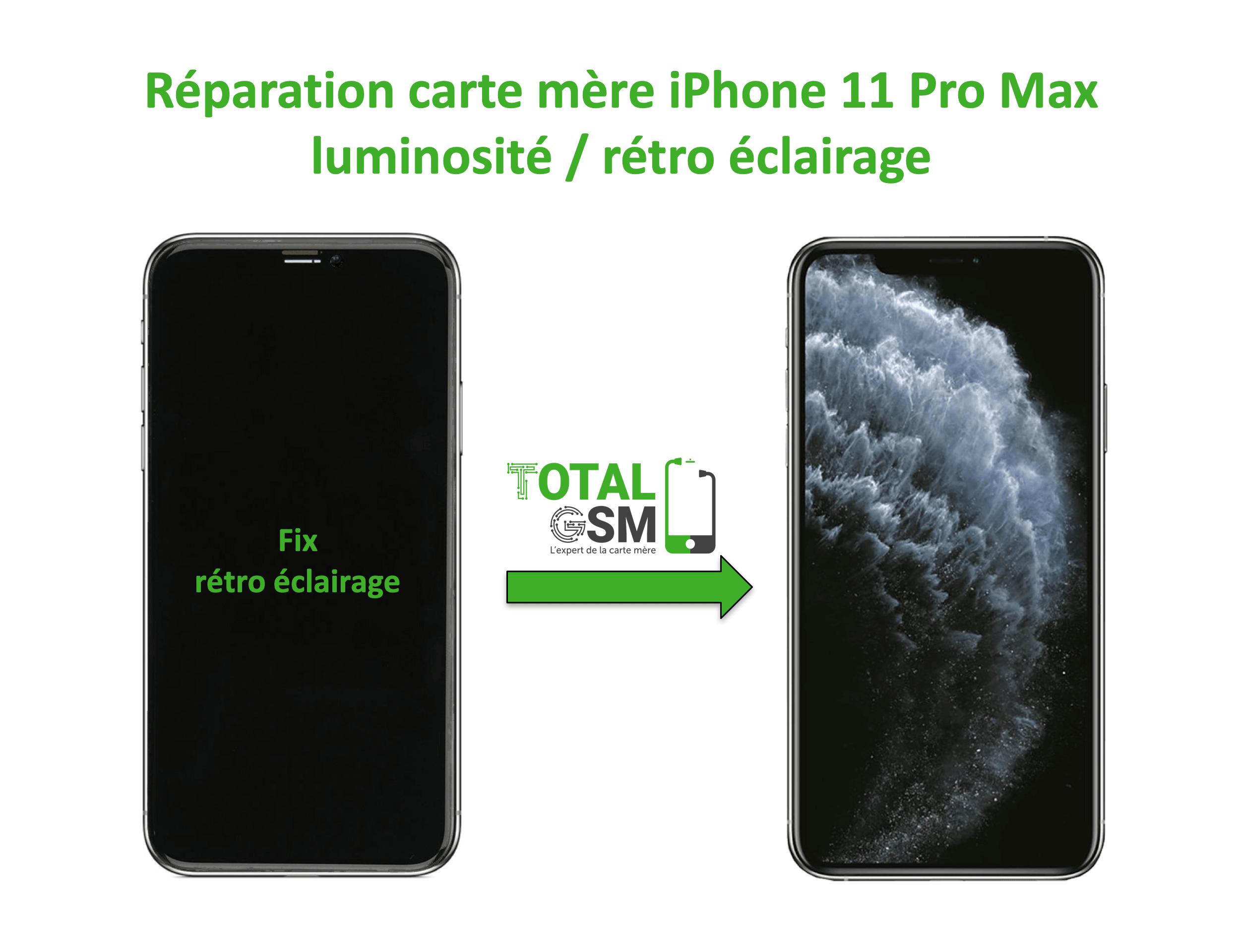 iPhone-11-pro-max-reparation-probleme-de-retro eclairage