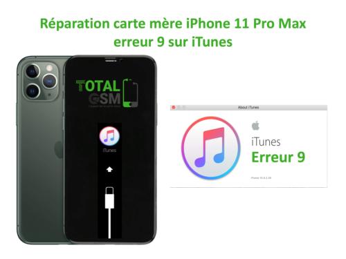 iPhone-11-pro-max-reparation-probleme-erreur-9-sur-itunes
