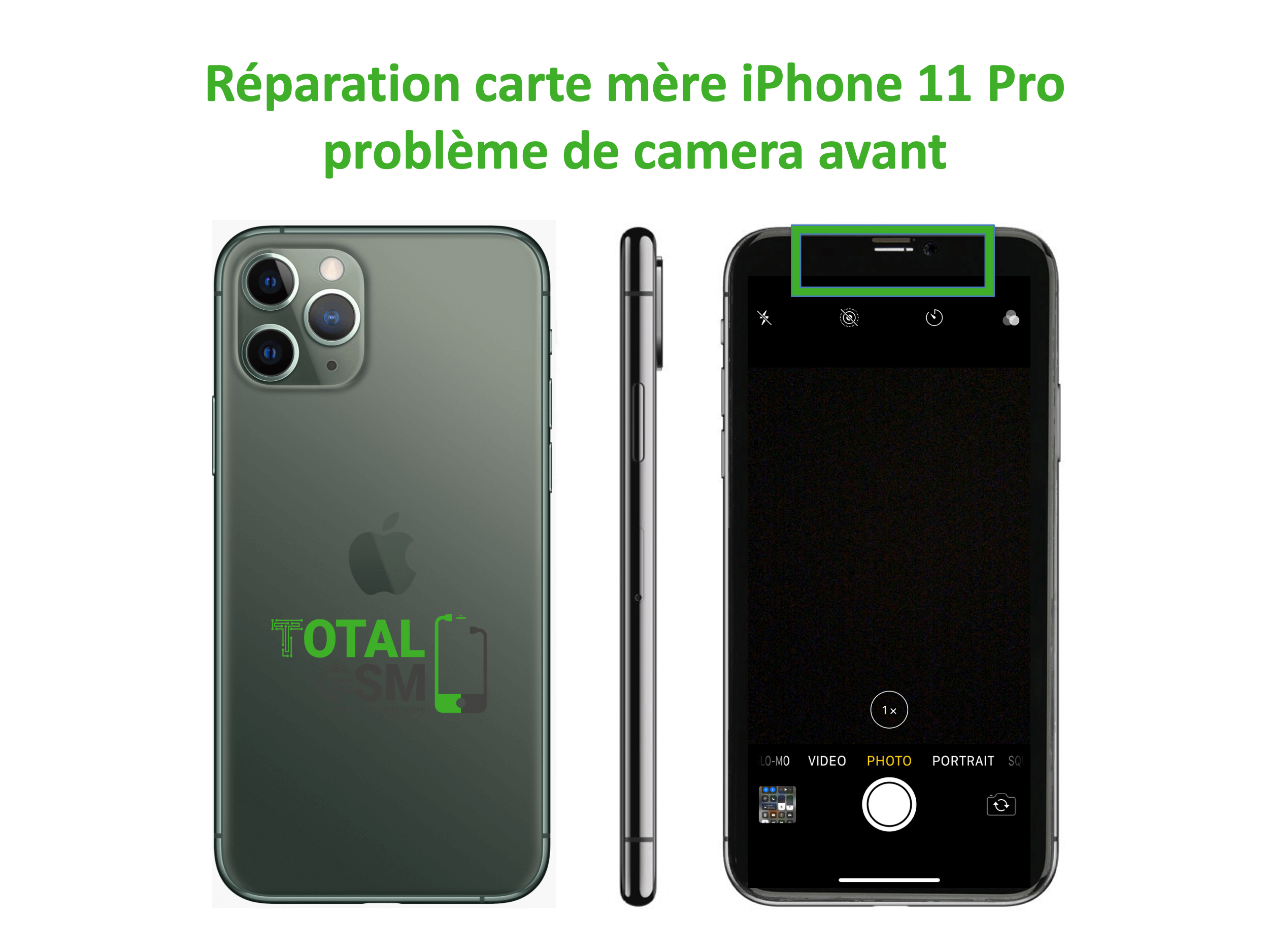 iPhone-11-pro-reparation-probleme-de-camera-avant
