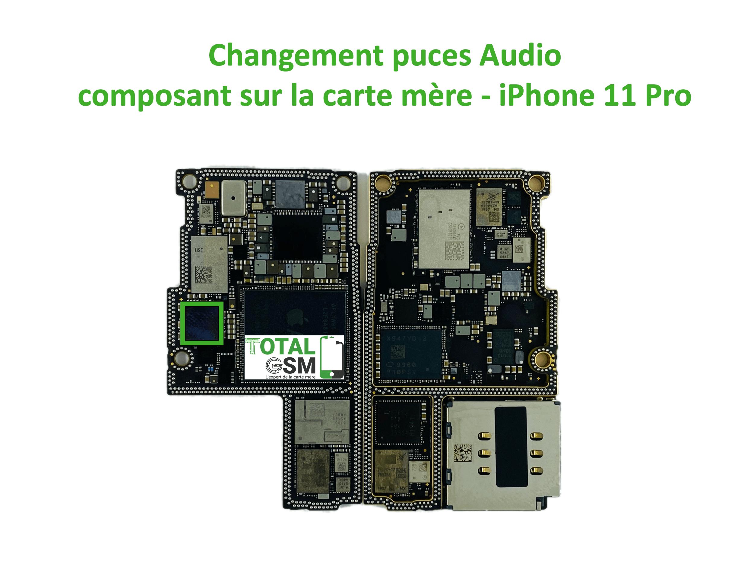 iPhone-11-pro-reparation-probleme-de-pouce-audio